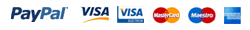 Pay securely with PayPal or credit/debit cards